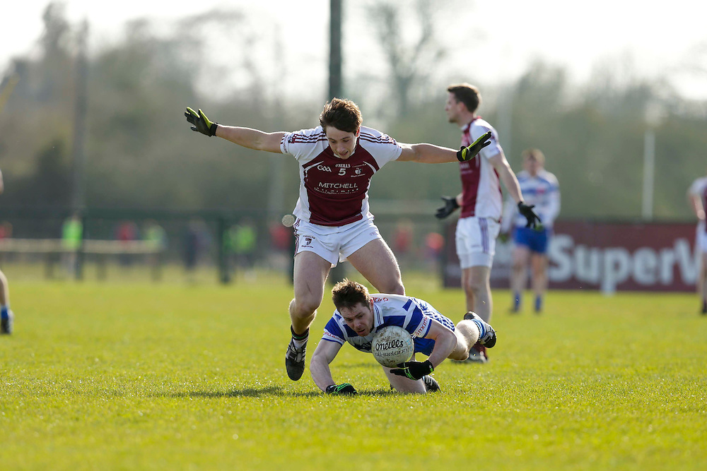 SFC at Trim, April 10th 2016.<br /> Navan O`Mahonys vs Moynalvey<br /> Stephen Bray (Navan O`Mahonys) & Eamonn Walsh (Moynalvey)<br /> Photo: David Mullen /www.cyberimages.net / 2016