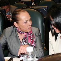 Toluca, México.- María Guadalupe Mondragón durante la sesión de la LVII Legislatura local en donde se dijo que se modifico la Ley Orgánica de la Legislatura para obligar a que sus sucesores sean puntuales al asistir a las reuniones plenarias, de la Junta de Coordinación o de las propias comisiones, además deberán informar a la legislatura siguiente los pendientes que heredarán a fin de evitar rezagos . Agencia MVT / José Hernández
