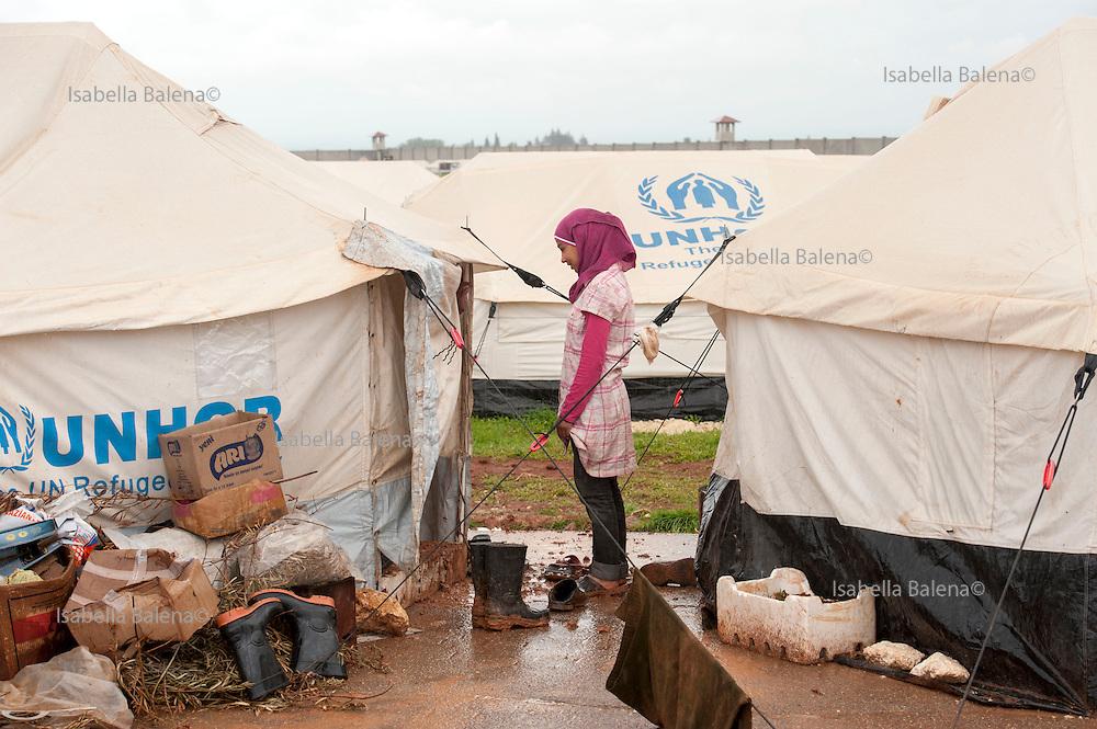 Siria, campo profughi di Bab al Salam. Syria Bab al Salam refugees camp.