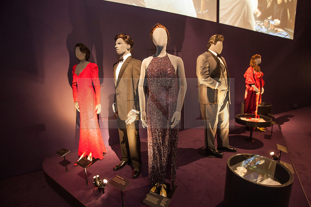 © licensed to London News Pictures. London, UK 05/07/2012. Costumes, which have been used in James Bond movies,  being shown with many Bond items which have been used in the movies in the last 50 years at Designing 007 exhibition at Barbican Centre. Photo credit: Tolga Akmen/LNP