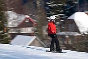 Skihang, Skifahrer, Schnee, Winter, Braunlage, Harz, Niedersachsen, Deutschland | skiing, snow, winter, Braunlage, Harz, Lower Saxony, Germany