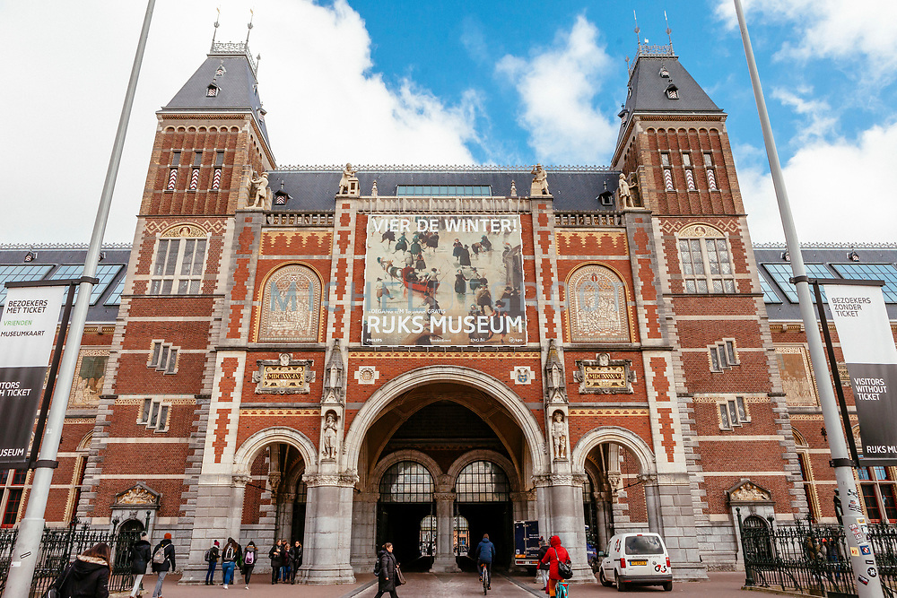 Story Summary: What's the latest in museum shops / the Rijksmuseum's Gift shop, February 27, 2018  // Pictured: Exterior of the Rijksmuseum building.