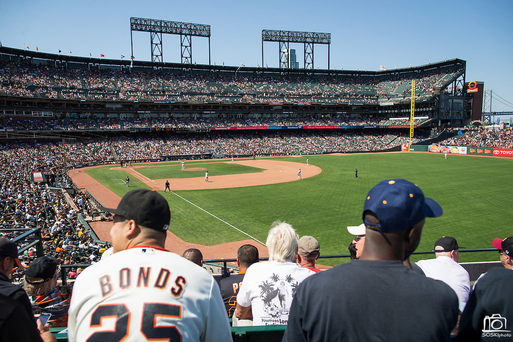 Fans watch the San Francisco Giants host the Pittsburgh Pirates at AT&T Park in San Francisco, Calif., on August 17, 2016. (Stan Olszewski/Special to S.F. Examiner)