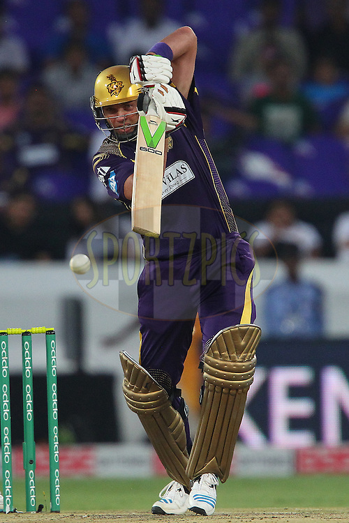 Jacques KALLIS of the Kolkata Knight Riders  during the first semi final match of the Oppo Champions League Twenty20 between the Kolkata Knight Riders and the Hobart Hurricanes held at the Rajiv Gandhi Cricket Stadium, Hyderabad, India on the 2nd October 2014<br /> <br /> Photo by:  Ron Gaunt / Sportzpics/ CLT20<br /> <br /> <br /> Image use is subject to the terms and conditions as laid out by the BCCI/ CLT20.  The terms and conditions can be downloaded here:<br /> <br /> http://sportzpics.photoshelter.com/gallery/CLT20-Image-Terms-and-Conditions-2014/G0000IfNJn535VPU/C0000QhhKadWcjYs