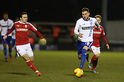 Danny Mayor of Bury in action during the Sky Bet League 1 match between Bury and Barnsley at The JD Stadium, Bury, England on 23 February 2016. Photo by Simon Brady.