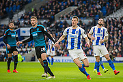 Sam Field (West Brom) & Dan Burn (Brighton) during the FA Cup fourth round match between Brighton and Hove Albion and West Bromwich Albion at the American Express Community Stadium, Brighton and Hove, England on 26 January 2019.