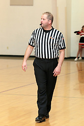 6 December 2013: referee Sam Payne. Cornerstone Christian Cyclones host the Heywoth Hornets, rural Bloomington, Illinois