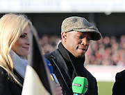 Ian Wright during the The FA Cup Third Round match between Dover Athletic and Crystal Palace at Crabble Athletic Ground, Dover, United Kingdom on 4 January 2015. Photo by Phil Duncan.