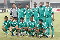 Photo: Steve Bond/Richard Lane Photography.<br />Nigeria v Mali. Africa Cup of Nations. 25/01/2008. Nigeria line up