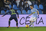 Foto LaPresse/Filippo Rubin<br /> 26/12/2018 Ferrara (Italia)<br /> Sport Calcio<br /> Spal - Udinese - Campionato di calcio Serie A 2018/2019 - Stadio &quot;Paolo Mazza&quot;<br /> Nella foto: MANUEL LAZZARI (SPAL)<br /> <br /> Photo LaPresse/Filippo Rubin<br /> December 26, 2018 Ferrara (Italy)<br /> Sport Soccer<br /> Spal vs Udinese - Italian Football Championship League A 2018/2019 - &quot;Paolo Mazza&quot; Stadium <br /> In the pic: MANUEL LAZZARI (SPAL)