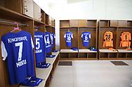 Bengaluru FC dressing room during the 2nd semi final match of the Hero Super Cup between Mohun Bagan and Bengaluru FC held at the Kalinga Stadium, Bhubaneswar, India on the 17th April 2018<br /> <br /> Photo by: Deepak Malik / SPORTZPICS