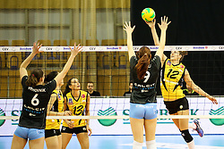 26-11-2015 SLO: Champions League Calcit Ljubljana - VakifBank Istanbul, Ljubljana<br /> Anne Buijs of VakifBank Istanbul and Elena Ucej of Calcit Ljubljana <br /> <br /> ***NETHERLANDS ONLY***