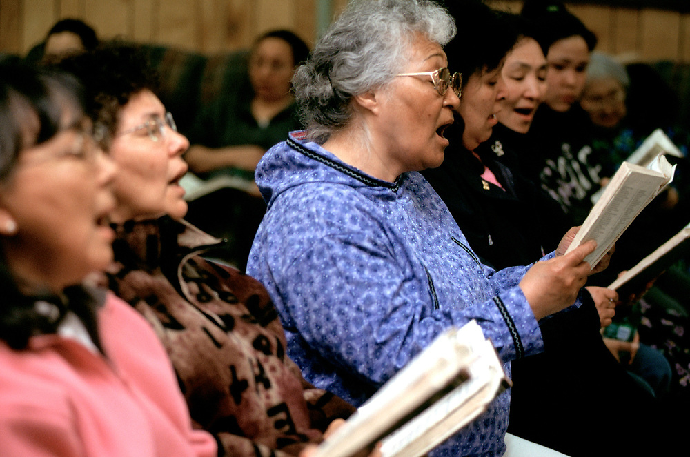 After the service in I&ntilde;upiaq, a singspiration goes on every Sunday night at the Presbiterian Church. <br /> <br /> May 18, 21:40