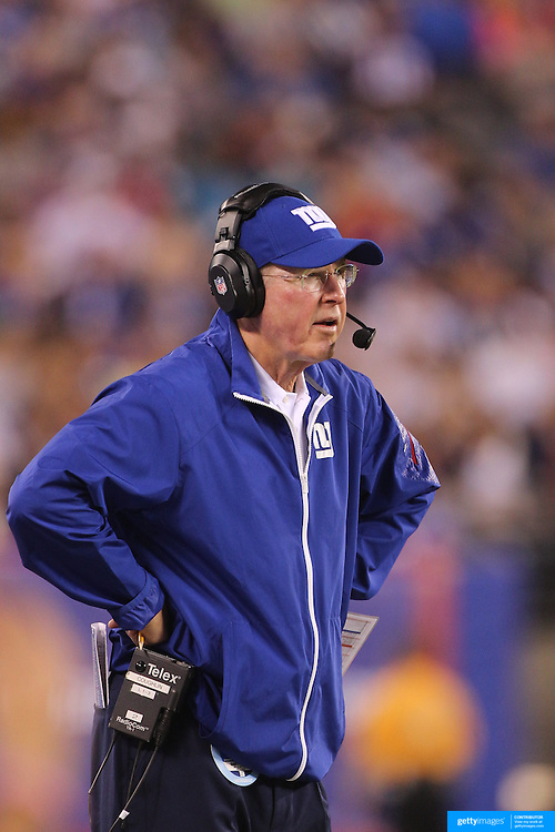 New York Giants coach Tom Coughlin during the New York Giants V Indianapolis Colts, NFL American Football Pre Season match at MetLife Stadium, East Rutherford, NJ, USA. 18th December 2013. Photo Tim Clayton