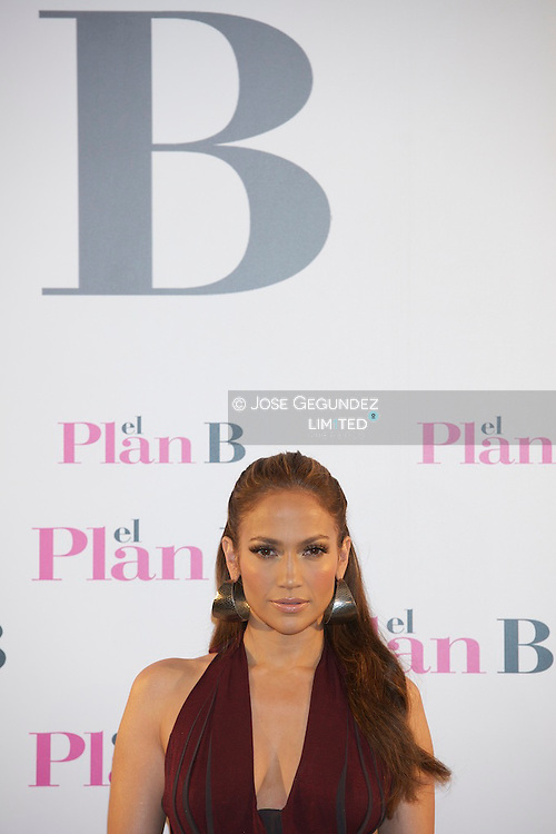 US Actress Jennifer Lopez attends 'The Back-up Plan' (El Plan B) photocall at Villamagna Hotel in Madrid