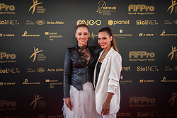 Indira Ekic and Nives Oresnik during SPINS XI Nogometna Gala 2019 event when presented best football players of Prva liga Telekom Slovenije in season 2018/19, on May 19, 2019 in Slovene National Theatre Opera and Ballet Ljubljana, Slovenia. ,Photo by Urban Meglic / Sportida