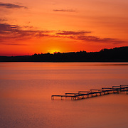 """""""Spectacular Dawn of Fire""""<br /> <br /> What a spectacular morning as the sun begins to rise over Grand Traverse Bay in Traverse city, Michigan!"""