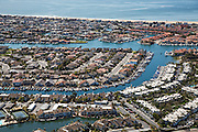 Aerial Photo of sunset Beach in Huntington Beach California
