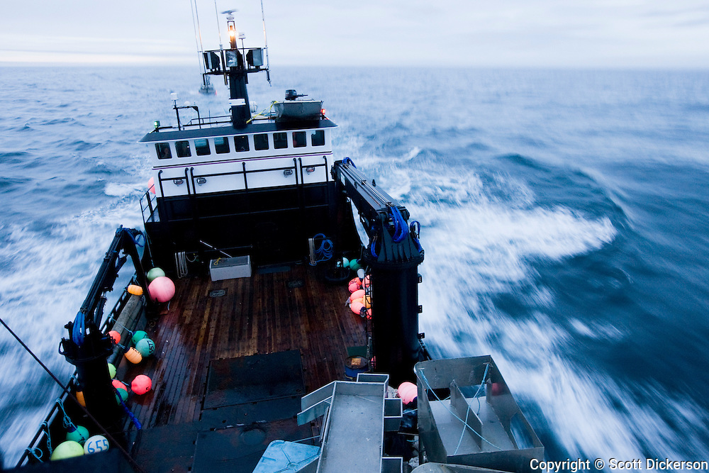 The F/V Time Bandit of Deadliets Catch tv series fame, motors through Bristol Bay, in the Bering Sea, Alaska. The Time Bandit fishes for Crab and operates as a sockeye salmon tender in Bristol Bay in the summer when not busy crabbing.