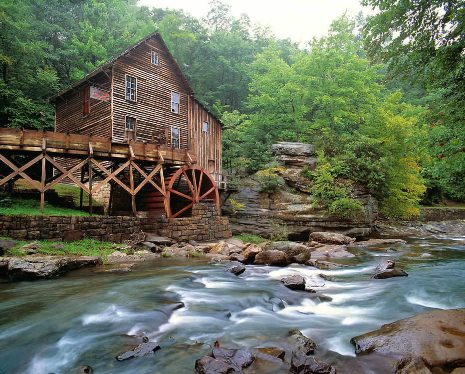 The rustic Grist Mill was powered by  Glade Creek in Babcock State Park, West Virginia.