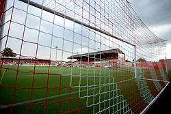 General view of The LCI Rail Stadium prior to kick off - Mandatory by-line: Paul Roberts/JMP - 25/07/2017 - FOOTBALL - LCI Rail Stadium - Cheltenham, England - Cheltenham Town v Bristol City - Pre-season friendly