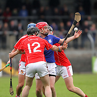 12/10/13 Cratloe's Damian Brown comer under pressure from three Crusheen players in Cusack Park. Pic Tony Grehan / Press 22