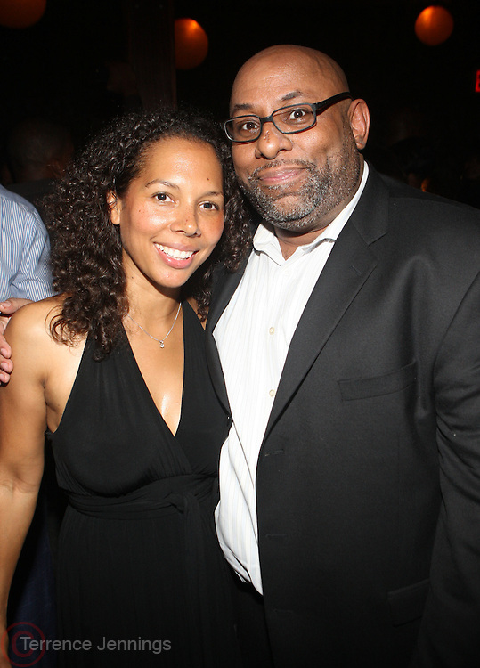 l to r: Melissa Kramer and David Watkins at Uptown Magazine's 5th Anniversary Party held at The Maritime Hotel on September 22, 2009 in New York City