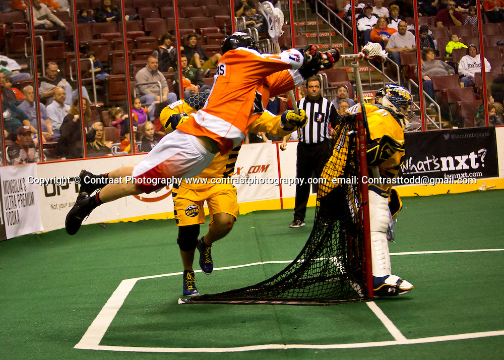 23 Feb 2014: Philadelphia Wings vs Swarm at Wachovia Center Philadelphia, PA<br /> <br /> Mandatory Credit:Zach Bauders/ContrastPhotography.com