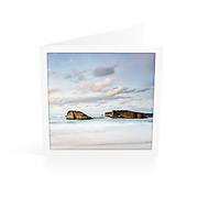 Photo Art Greeting Card | South West Rocks Collection | Calm Afternoon, Main Beach | Printed on lightly textured matte art paper stock, blank inside. White envelope included, packaged in sealed poly bag. Dimensions: Card 123 x 123mm. Envelope 130 x 130mm.<br />