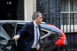 © Licensed to London News Pictures. 24/10/2018. LONDON, UK. Julian Smith, Parliamentary Secretary to the Treasury, in Downing Street ahead of Theresa May's meeting with the 1922 Committee.  Photo credit: Stephen Chung/LNP