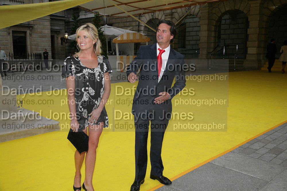 TINA HOBLEY AND HER HUSBAND, Royal  Academy of  Arts summer exhibition opening night. Royal academy. Piccadilly. London. 6 June 2007.  -DO NOT ARCHIVE-© Copyright Photograph by Dafydd Jones. 248 Clapham Rd. London SW9 0PZ. Tel 0207 820 0771. www.dafjones.com.