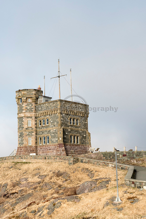 Cabot Tower on Signal Hill, St-John's Newfoundland Canada