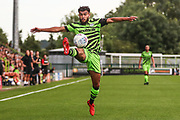 Forest Green Rovers Dominic Bernard(3) controls the ball during the Pre-Season Friendly match between Forest Green Rovers and Bristol City at the New Lawn, Forest Green, United Kingdom on 24 July 2019.
