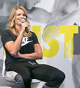 UTRECHT, THE NETHERLANDS. 2017, SEPTEMBER 7. Dafne Schippers at the Nike store opening at Hoog Catherijne.
