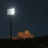 ORLANDO, FL - AUGUST 29: The Spectrum Stadium lights are seem during a NCAA football game between the Florida A&M Rattlers and the UCF Knights on August 29 2019 in Orlando, Florida. (Photo by Alex Menendez/Getty Images) *** Local Caption ***