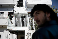 SYRIA - Al Qsair. This picture shows a house hit by Syrian Army tank shells in Al Qsair, on January 25, 2012. Al Qsair is a small town of 40000 inhabitants, located 25Km south-west of Homs. The town is besieged since the beginning of November and so far it counts 65 dead. ALESSIO ROMENZI