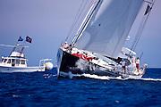 Ganesha sailing in the Dubois Cup regatta, day 1.