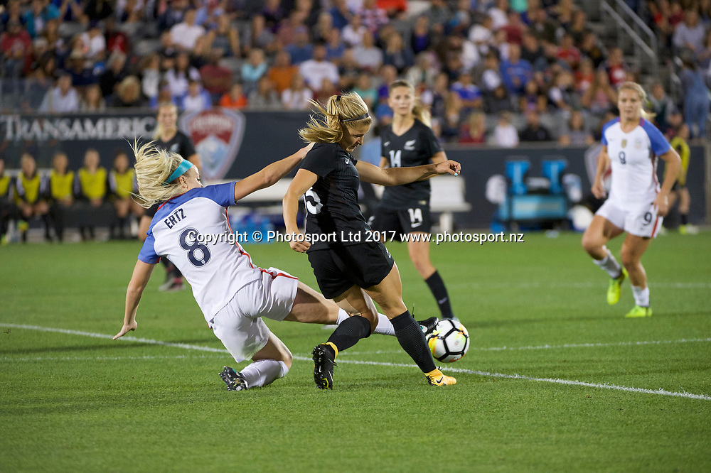 Commerce City, Colorado - Friday September 15, 2017:  Rosie White (13) of the New Zealand Women's National Football Team against the USWNT at Dick's Sporting Goods Park. Copyright photo: Jamie Schwaberow / ISI / www.photosport.nz