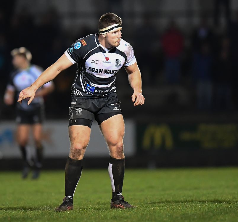 Josh Hawkins of Pontypridd<br /> <br /> Photographer Mike Jones/Replay Images<br /> <br /> Principality Premiership - Neath v Pontypridd - Friday 16th March 2018 - The Gnoll Neath<br /> <br /> World Copyright © Replay Images . All rights reserved. info@replayimages.co.uk - http://replayimages.co.uk
