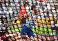 Athletics - 2017 IAAF London World Athletics Championships - Day Nine, Morning Session<br /> <br /> Decathlon Men - Discus Throw<br /> <br /> Ashley Bryant (Great Britain) at the London Stadium<br /> <br /> COLORSPORT/DANIEL BEARHAM