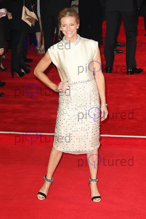 Gabby Logan, Bond: Spectre - World Premiere & Royal Film Performance, Royal Albert Hall, London UK, 26 October 2015, Photo by Richard Goldschmidt