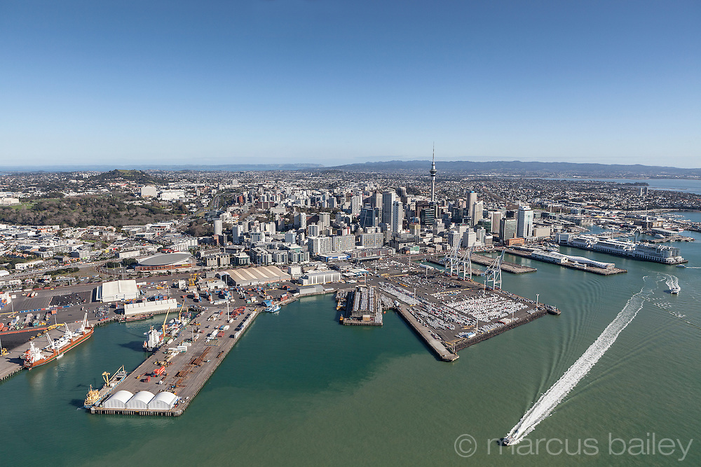 Auckland City New Zealand aerial photograph