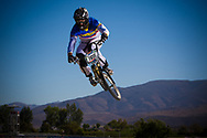 #126 (ENDARA MADERA Fausto Andres) ECU at the 2013 UCI BMX Supercross World Cup in Chula Vista