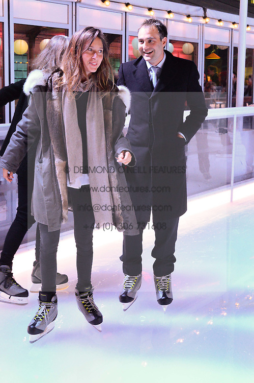 BEN GOLDSMITH and JEMIMA JONES at Skate at Somerset House in association with Fortnum & Mason held on 10th November 2014.