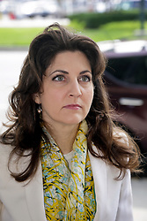 03 June  2015. New Orleans, Louisiana. <br /> Rita Benson LeBlanc arrives at  Civil Distrcit Court for week 2 of a hearing to determine the competency of grandfather Tom Benson. Benson is the billionaire owner of the NFL New Orleans Saints, the NBA New Orleans Pelicans, various auto dealerships, banks, property assets and a slew of business interests. Rita, her brother and mother demanded a competency hearing after Benson changed his succession plans and decided to leave the bulk of his estate to third wife Gayle, sparking a controversial fight over control of the Benson business empire.<br /> Photo©; Charlie Varley/varleypix.com