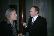 Christopher Hampton and Bret Easton Ellis. Party for Bret Easton Ellis's book 'Lunar Park'  given by Geordie Greig. Home House. Portman Sq. London.  London. 5 October 2005. . ONE TIME USE ONLY - DO NOT ARCHIVE © Copyright Photograph by Dafydd Jones 66 Stockwell Park Rd. London SW9 0DA Tel 020 7733 0108 www.dafjones.com