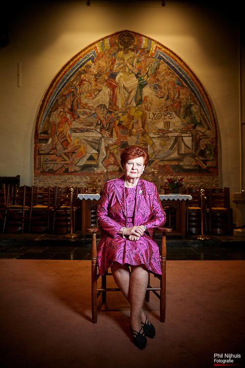 Den Haag, 28 oktober 2014 - Vaira Vike-Freiberga (voormalig president van Letland)<br /> in het kader van de crisis in Oekra&iuml;ne<br /> <br /> Foto: Phil Nijhuis