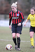 Kirsty Barton during the Women's FA Cup match between Watford Ladies FC and Brighton Ladies at the Broadwater Stadium, Berkhampstead, United Kingdom on 1 February 2015. Photo by Stuart Butcher.