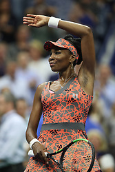 September 5, 2017 - New York City, New York, United States - Venus Williams of USA celebrates after defeating Petra Kvitova of Czech Republic (not seen) in Women's Singles Quarterfinal tennis match within the 2017 US Open Tennis Championships at Arthur Ashe Stadium in New York, United States on September 5, 2017. (Credit Image: © Foto Olimpik/NurPhoto via ZUMA Press)