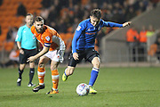 Ollie Rathbone shoots during the EFL Sky Bet League 1 match between Blackpool and Rochdale at Bloomfield Road, Blackpool, England on 26 September 2017. Photo by Daniel Youngs.